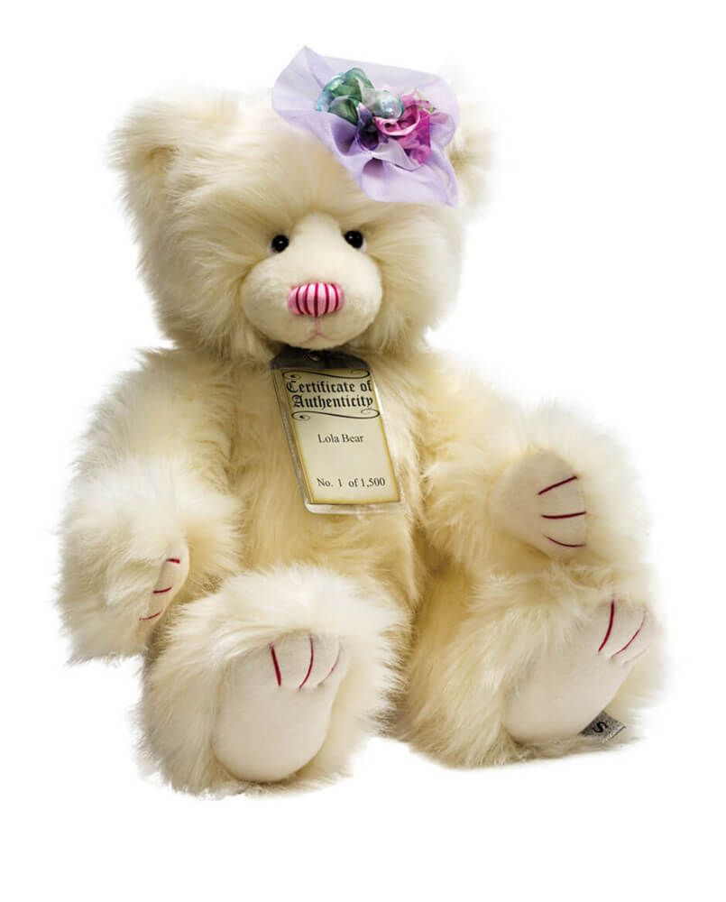 Lola is a fabulous collectible Silver Tag Bear, limited edition and made of soft and luxurious material. Complete with certification of authenticity