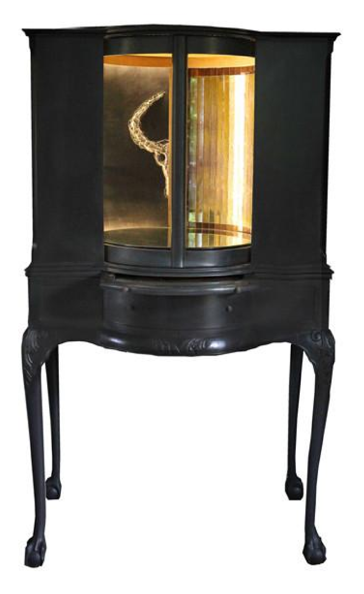 One-of-a-kind carousel drinks cabinet by designer Sarah Payne. At Atelier Abigail Ahern.