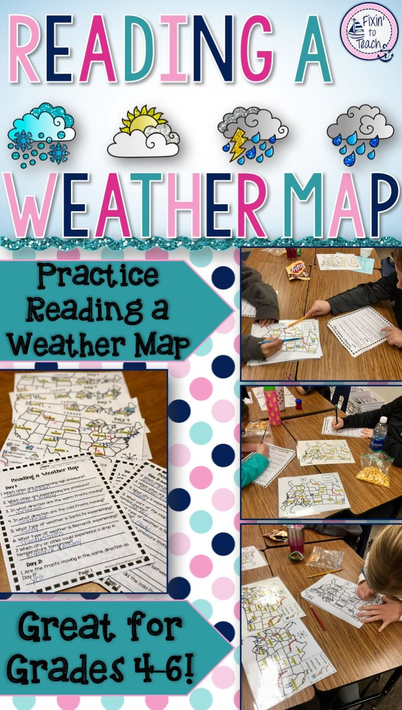 Reading a Weather Map   Science Activity  EDITABLE    Pinterest     This  Reading a Weather Map  science activity gives your students the  opportunity to practice