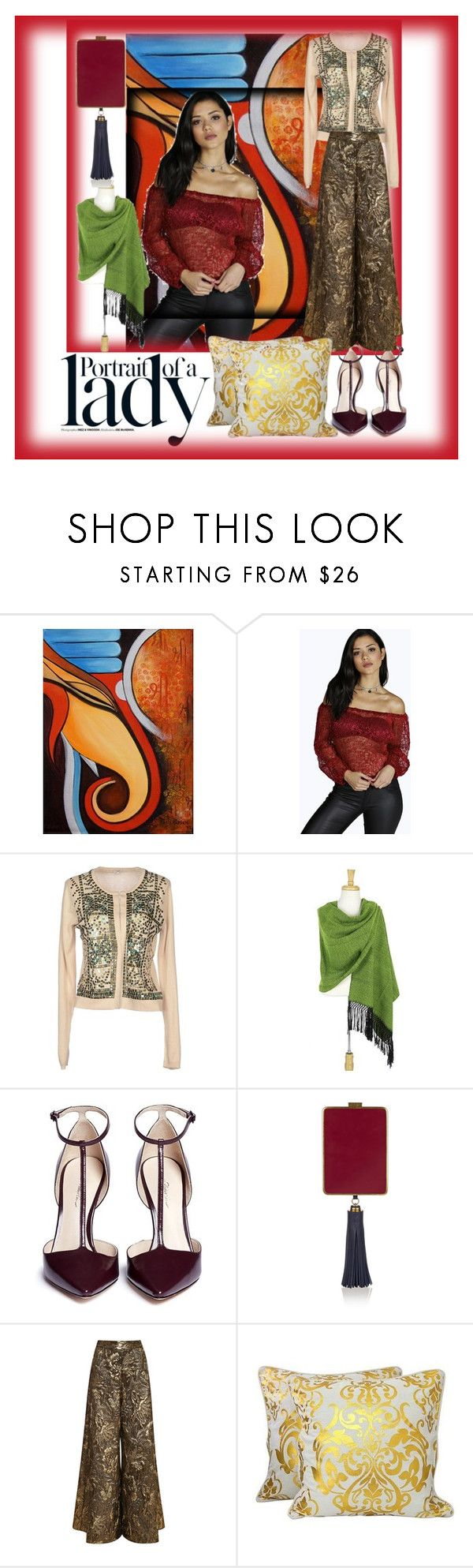 """""""Portrait 5"""" by bren-johnson ❤ liked on Polyvore featuring NOVICA, Boohoo, Inez & Vinoodh, Hoss Intropia, 3.1 Phillip Lim, Tory Burch and Brock Collection"""