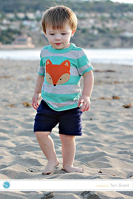 Fabric Applique Fox Shirt | Tori Grant