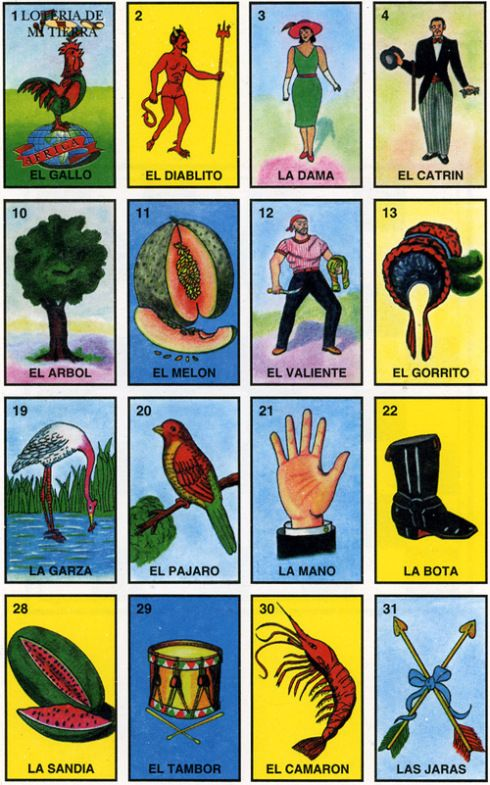 Modest image within printable loteria cards