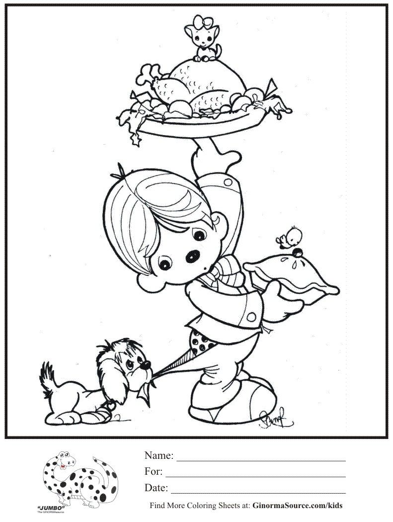 Precious Moments Serving Dinner Color Sheet Precious Moments Coloring Pages Coloring Pages Coloring Books