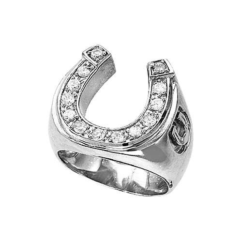 Kelly Herd 925 Sterling Silver Mens Horseshoe Ring JEWELRY