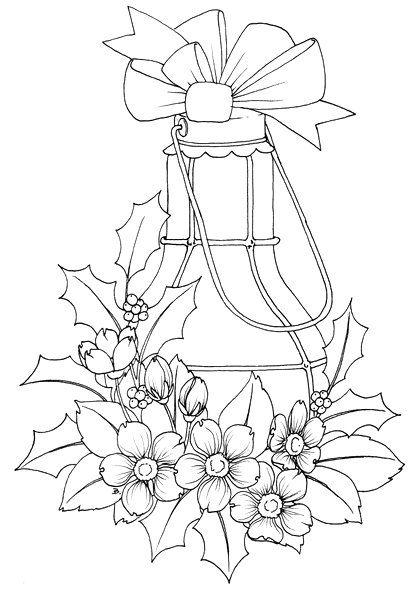 Poinsettia Line Art