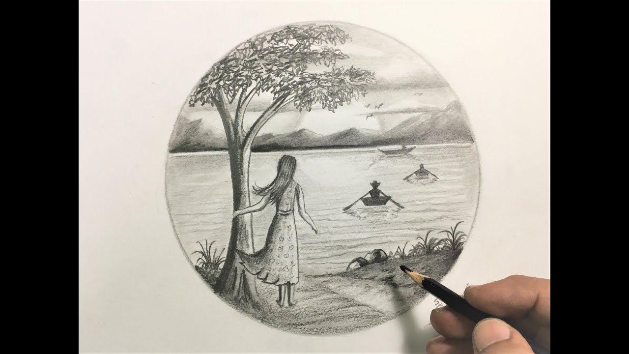 اليوم يافنانين سنتعلم معا كيفية رسم منظر طبيعي ليلي مقمر بالقلم الرصاص وبحر وسماء وطيور خطوه بخطوه وبالتفصيل وسنتعلم طريقة رسم بحيرة وطيور فكثيرا منكم ي