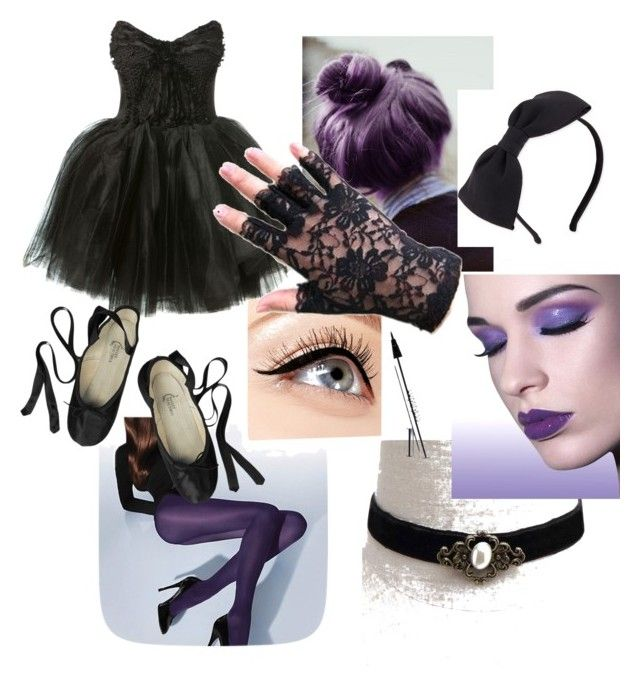 """goth ballerina simplicity"" by blshpuppy on Polyvore featuring Wolford, Loyd/Ford, Ballet Beautiful, Luminess Air, Kate Spade, women's clothing, women, female, woman and misses"