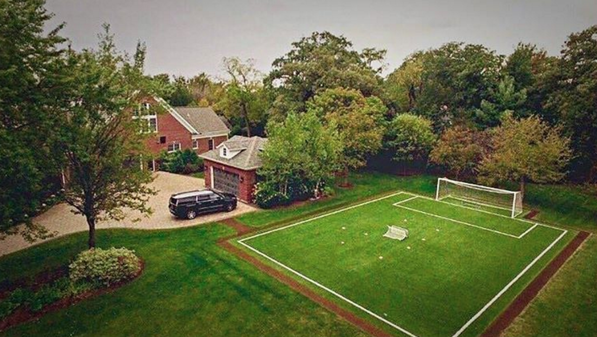 the football pitch next to the house future pad pinterest