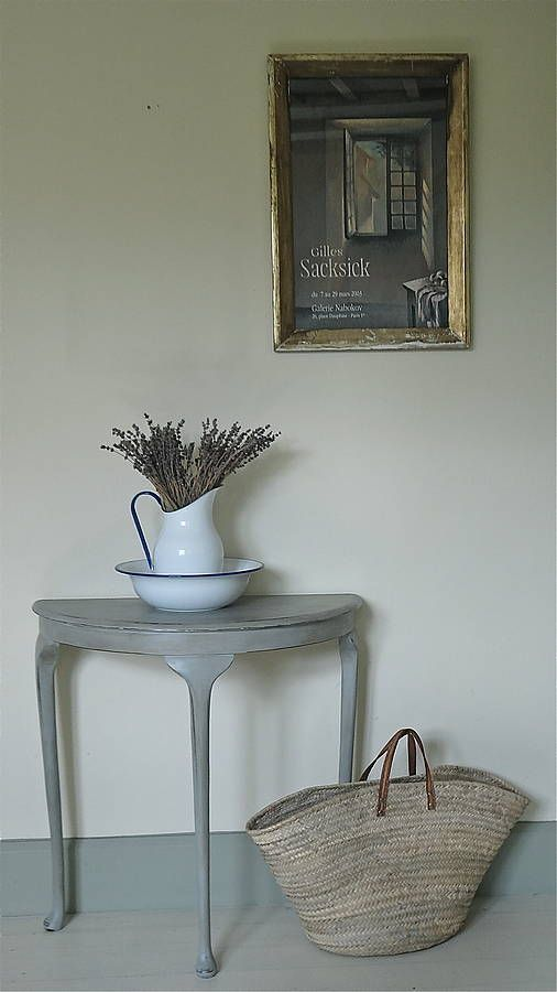 small demi-lune console table by distressed but not forsaken ...