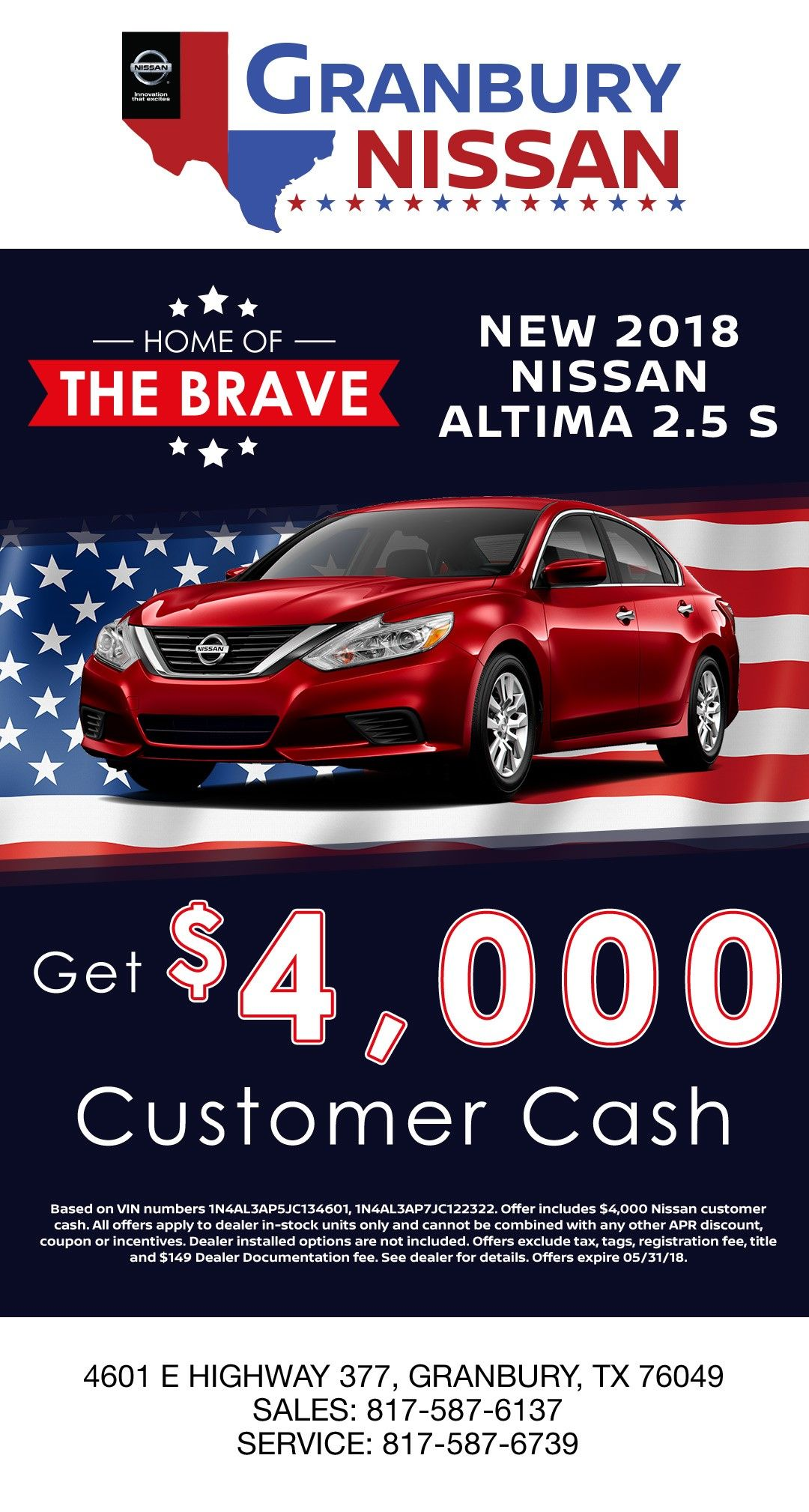 Take Advantage Of This Great Deal Now At Granbury Nissan Nissan
