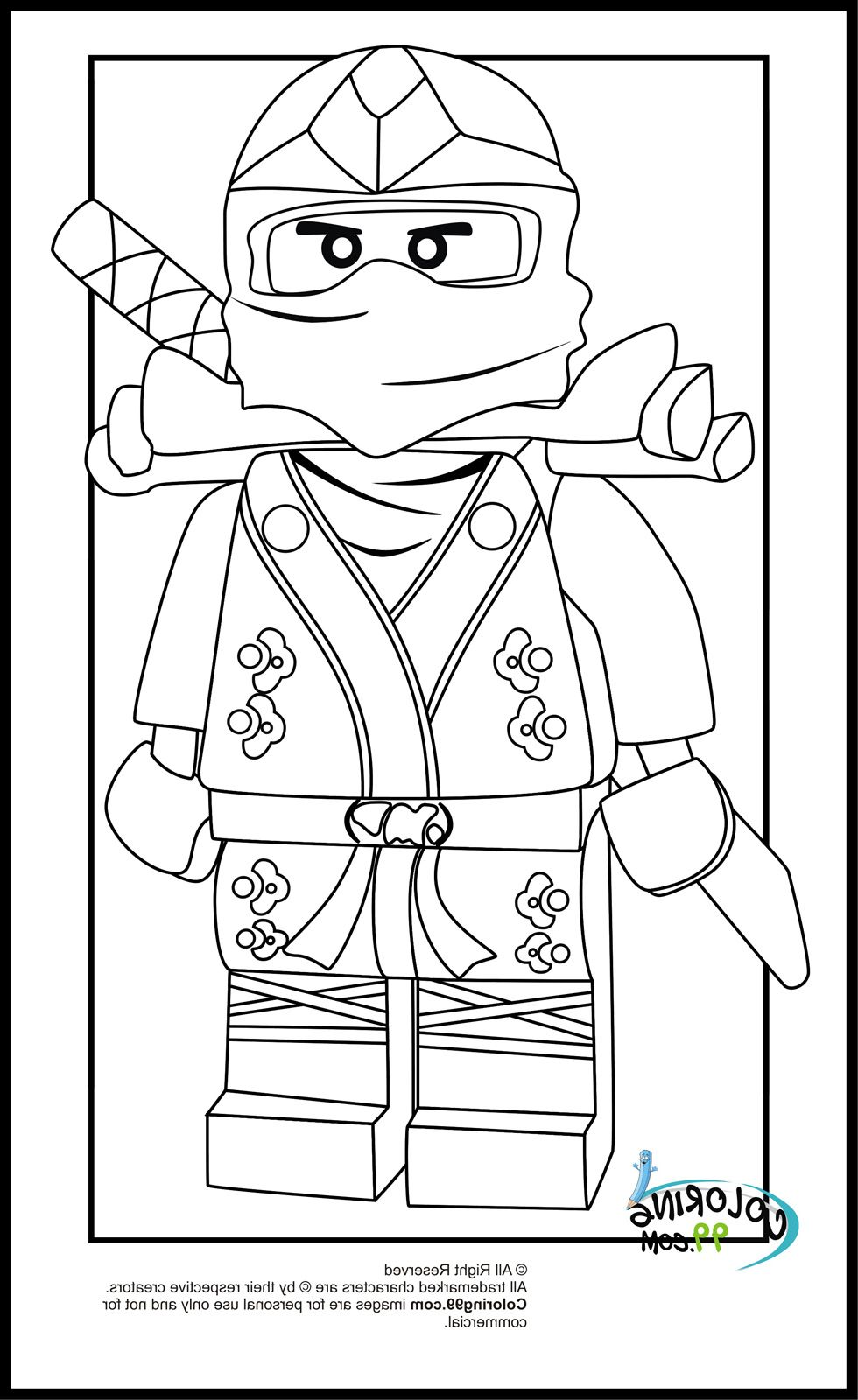 23 Cool Collection Of Lego Ninja Coloring Page