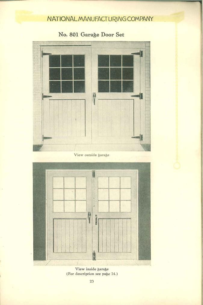 National Garage Hardware Carriage House Doors Barn Apartment 1920s House