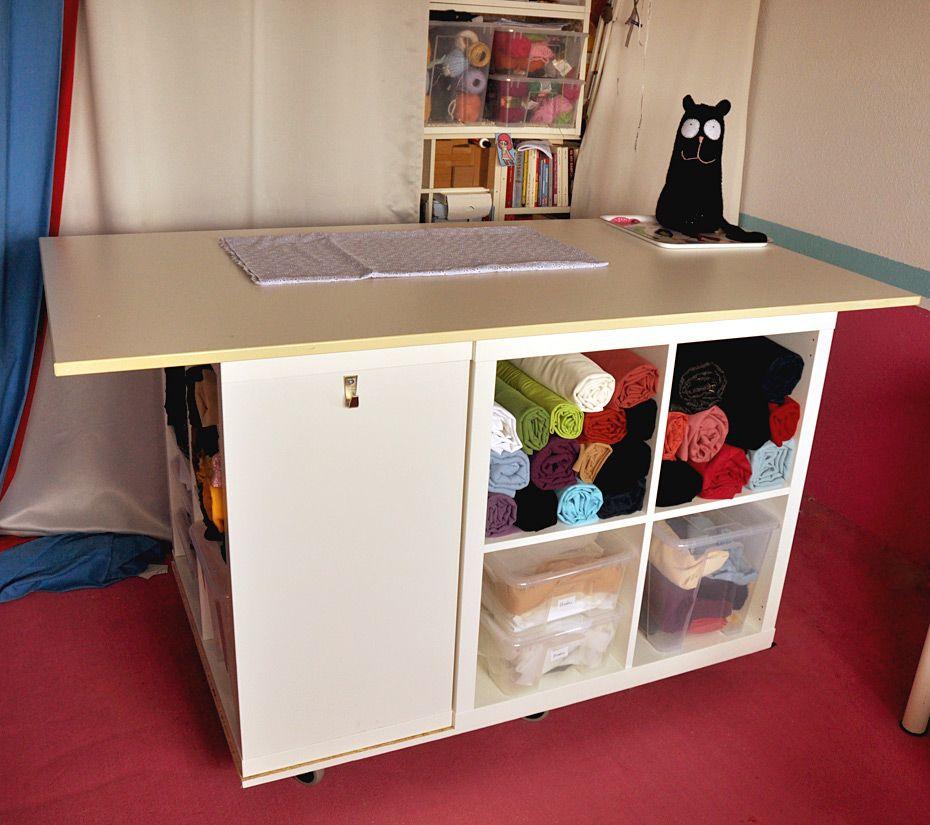 ikea kallax hack schneidetisch n hzimmerideen pinterest n hen n hzimmer und ideen n hzimmer. Black Bedroom Furniture Sets. Home Design Ideas