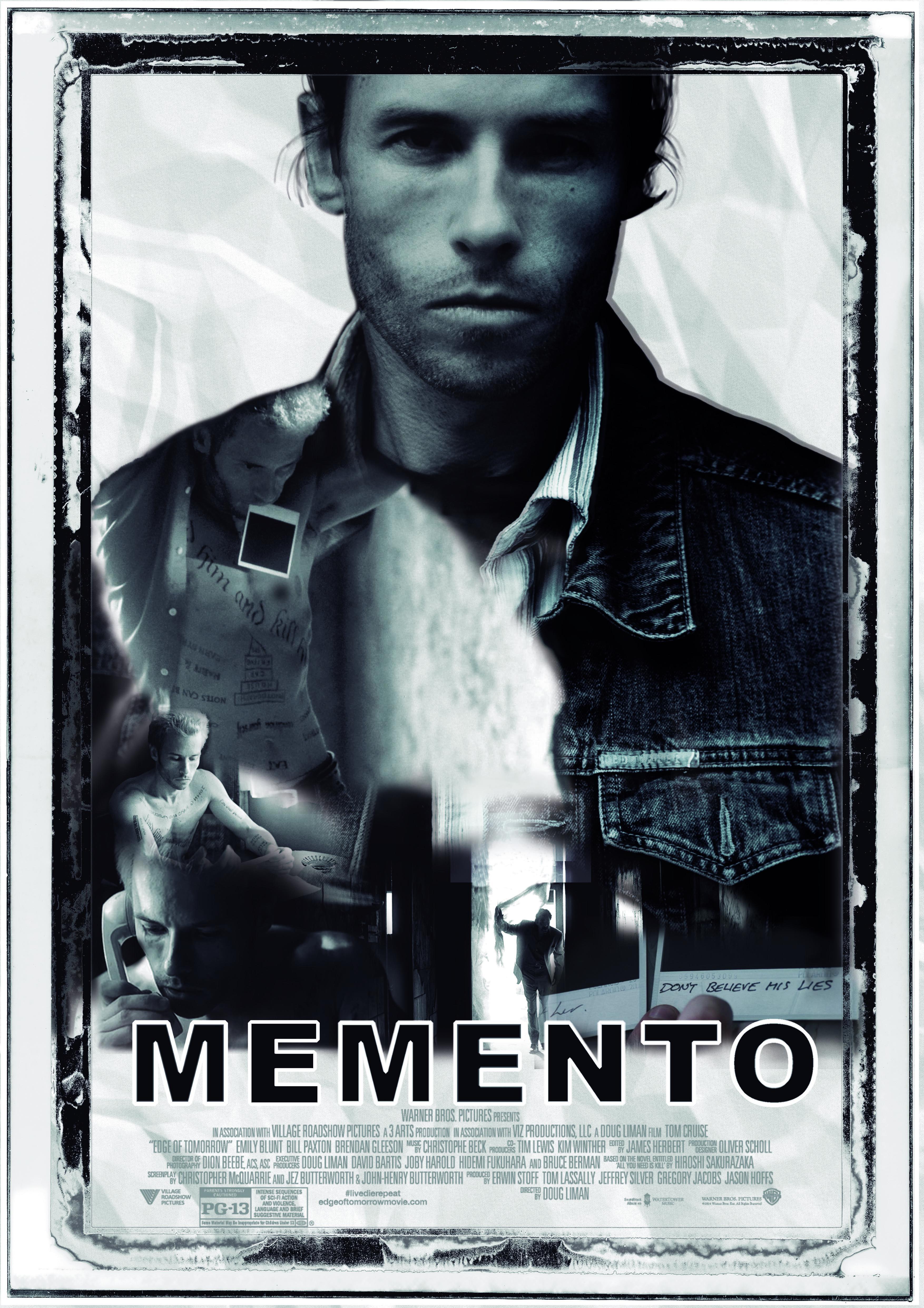 Cartel de la película Memento de Christopher Nolan.