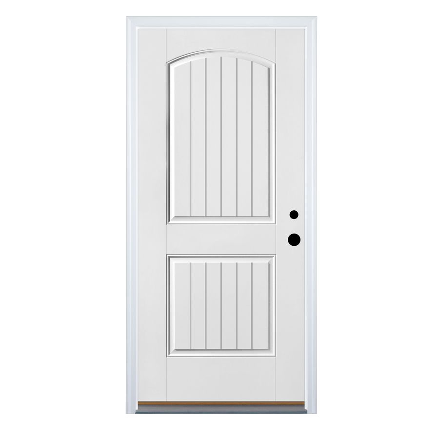 Shop Therma-Tru Benchmark Doors Insulating Core Left-Hand Inswing White Fiberglass Primed Prehung Entry Door (Common x Actual  sc 1 st  Pinterest & $200 ready to paint front door. Just add hardware u0026 paint. Therma ... pezcame.com