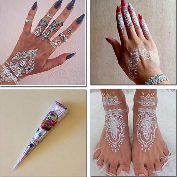 £5 New White henna Henna cones, Henna, Henna hand tattoo