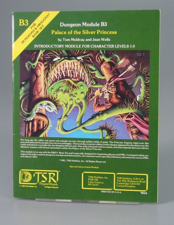 110 1924 Dungeon Module B3 Palace Of The Silver Princess Introductory Mod Dungeons And Dragons Dungeons And Dragons Adventures Dungeons And Dragons Modules