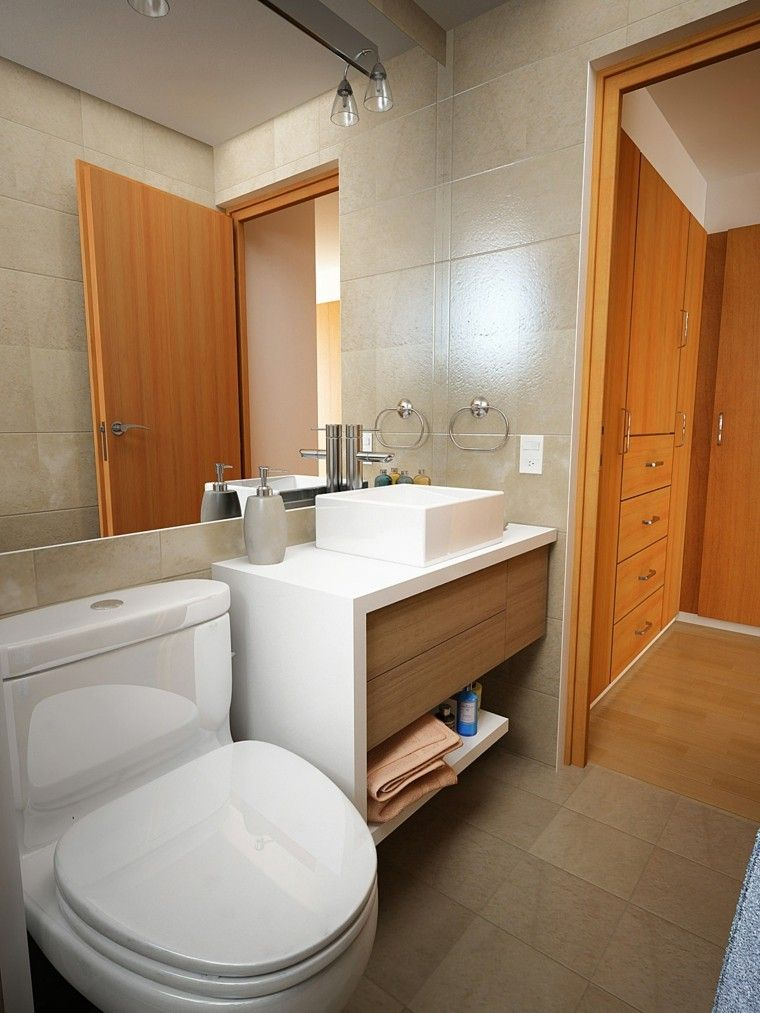 Ba os peque os con ducha 38 dise os de moda decoracion for Banos modernos para apartamentos