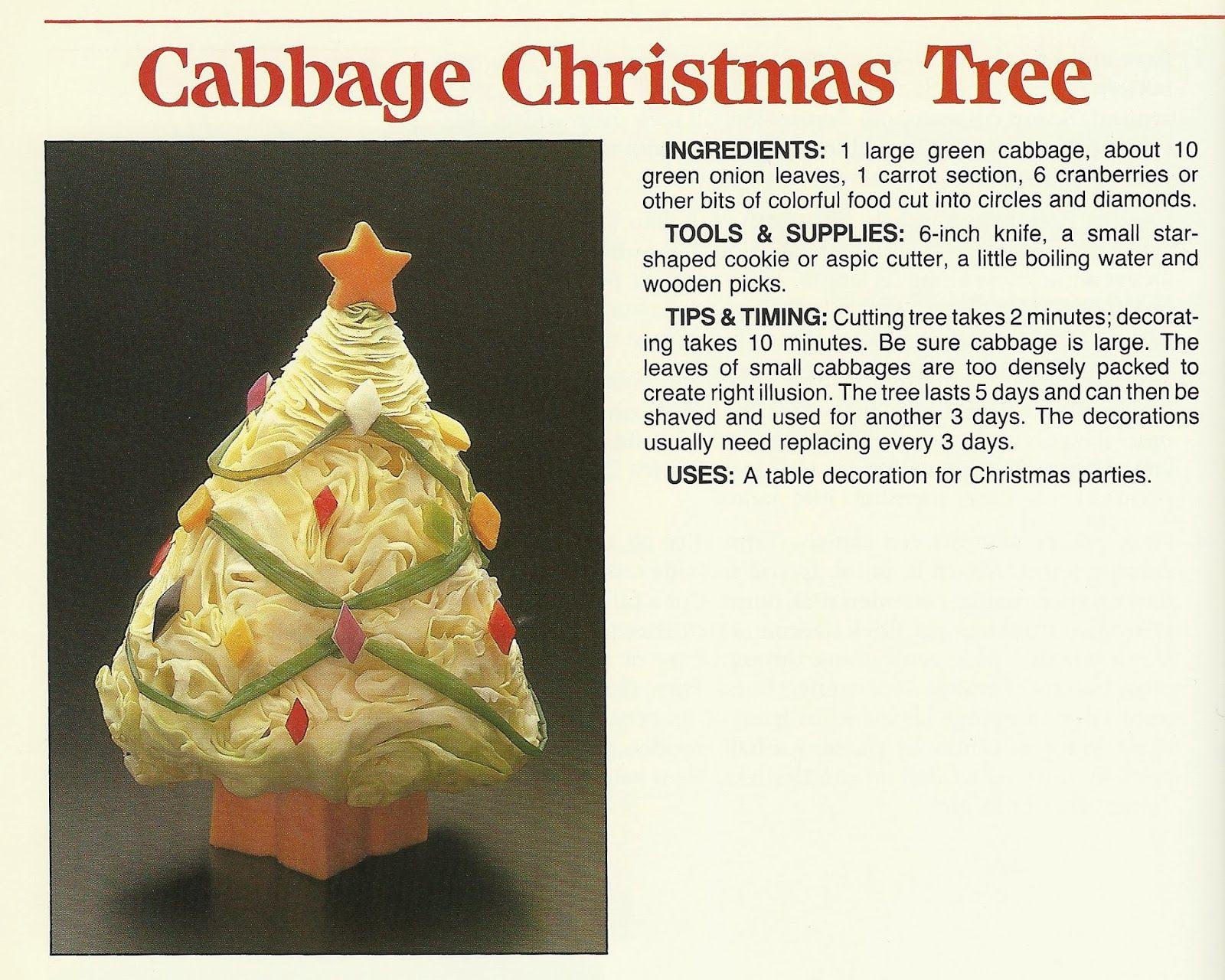 El árbol de Navidad de berza que sólo sirve para decorar, no para comer