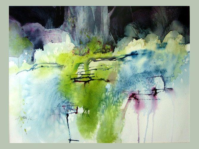 Artwork Of Karen Ku Rocks Moss Lichen In 2019 Abstract