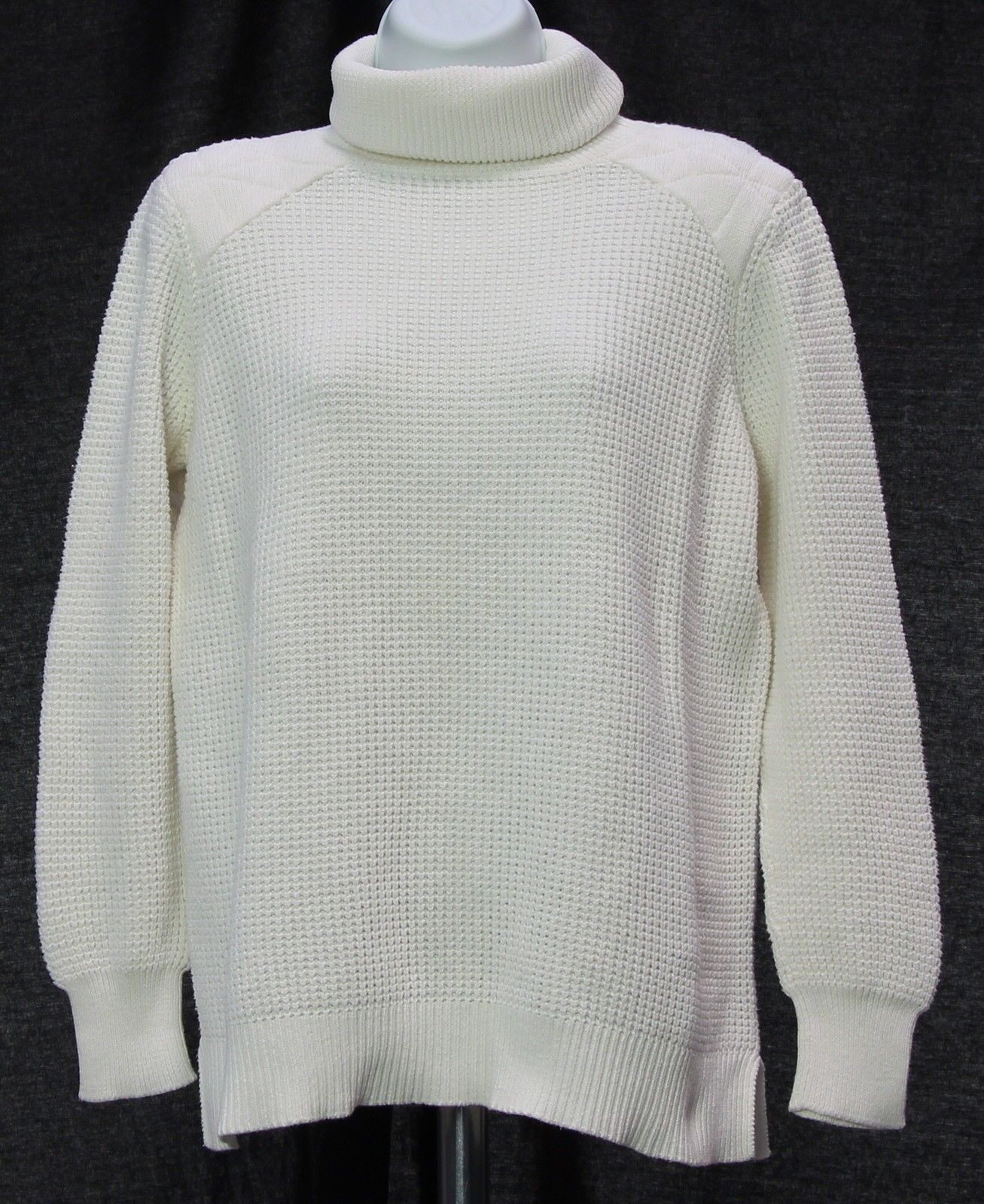 Womens 525 AMERICA White 100% Cotton Knitted Turtleneck Sweater ...