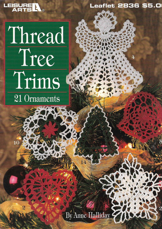Christmas Angel holiday crochet pattern leaflet