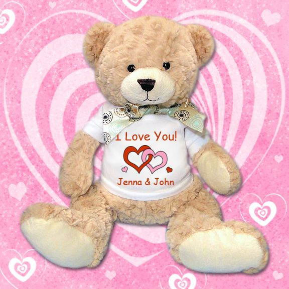 Valentines Bear Personalized Teddy Bears For Valentine S Day Your Message On Any Of Our Cute Bears Ww Personalised Teddy Bears Teddy Bear Cuddly Teddy Bear