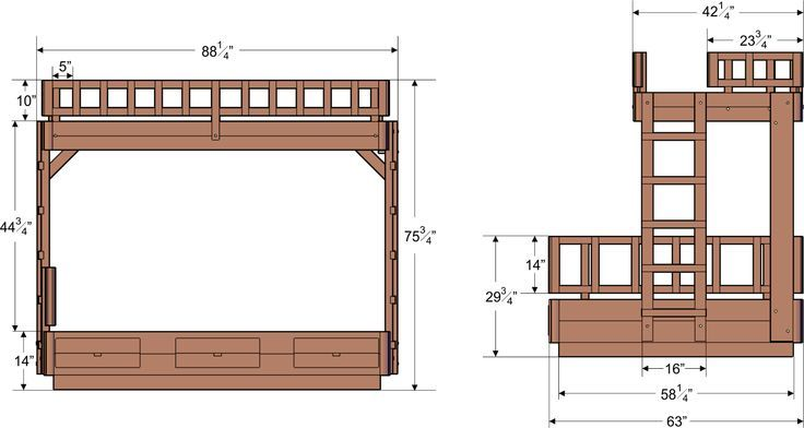Bunk Bed Height Standards Google Search Bunk House Pinterest Bed Measurements Bunk Bed Mattress Bunk Beds
