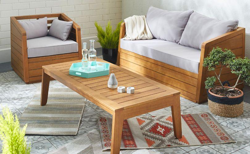 rangoon salon de jardin bois tendance