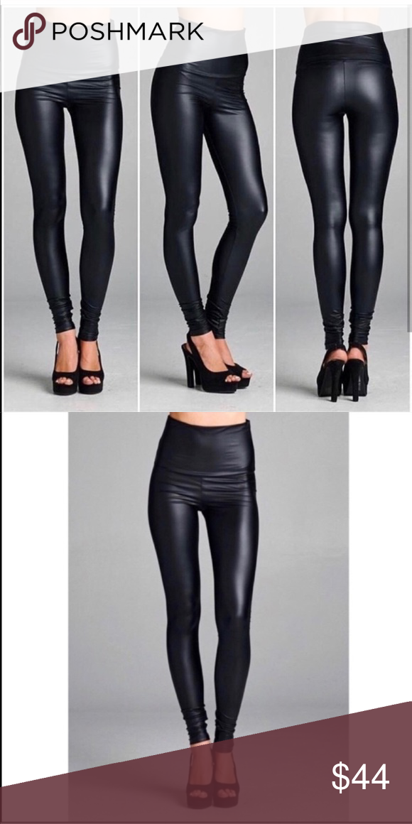 Last One New Vegan Leather Pants Leather Pants Faux Leather Leggings Vegan Leather