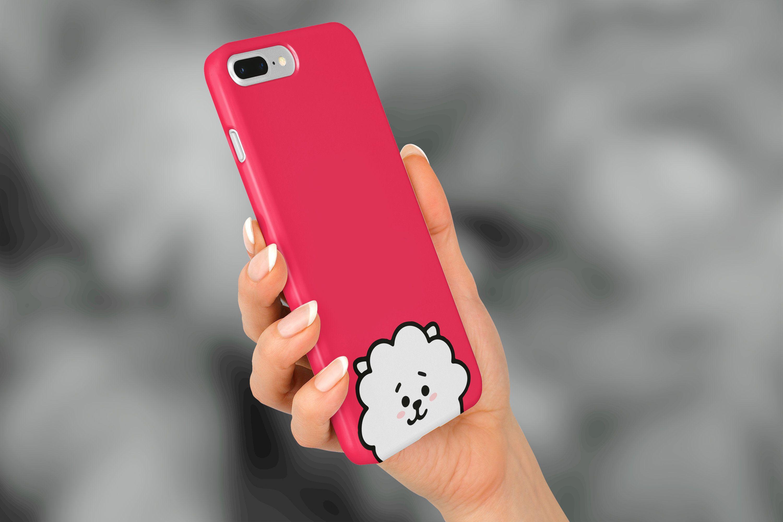 Bts bt21 phone case for pop socket rj iphone xs max case
