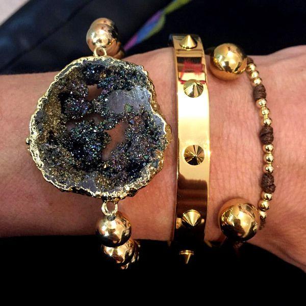 Set By Vila Veloni Valuable Energy Of Black Quartz Bracelets