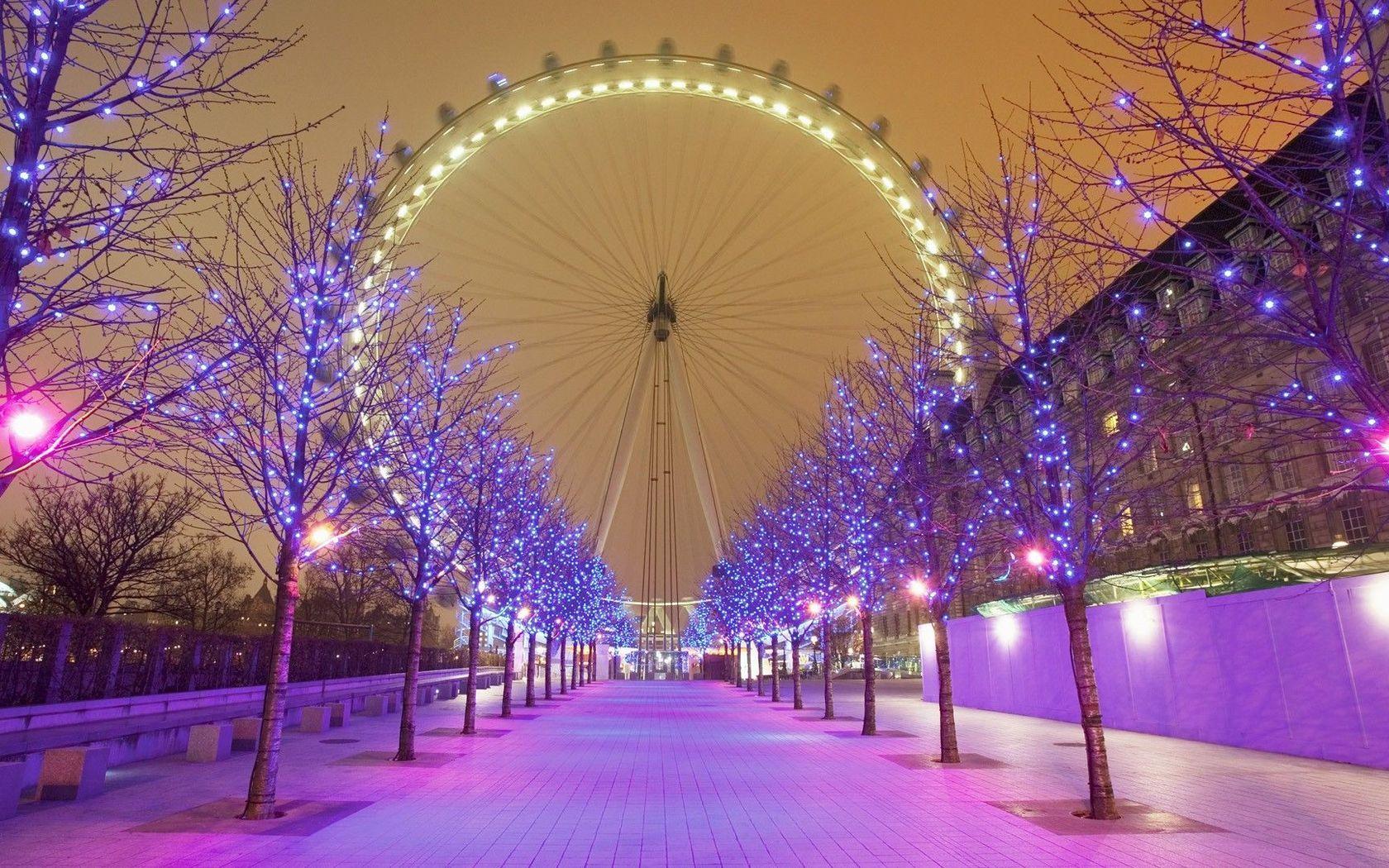 London Eye wallpaper Best christmas lights, London christmas