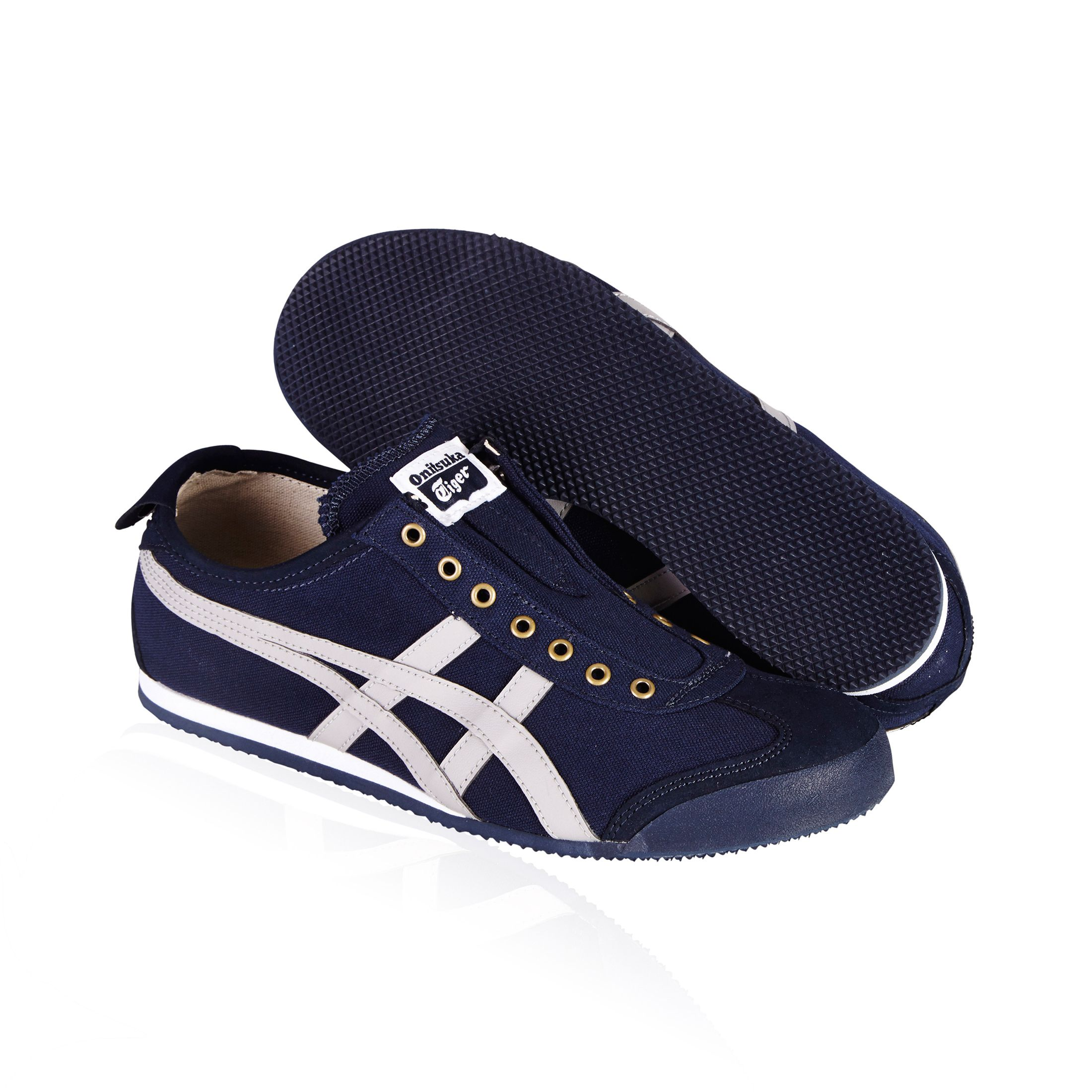 hot sale online 51e34 87a27 Onitsuka Tiger Mexico 66 slip on casual shoe- navy/grey ...