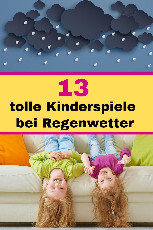 Die schönsten Kinderspiele für drinnen bei Regenwetter
