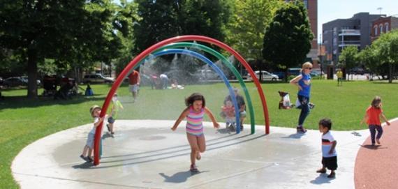 Eckhart Park Longtime Community Hub Featuring A Playground
