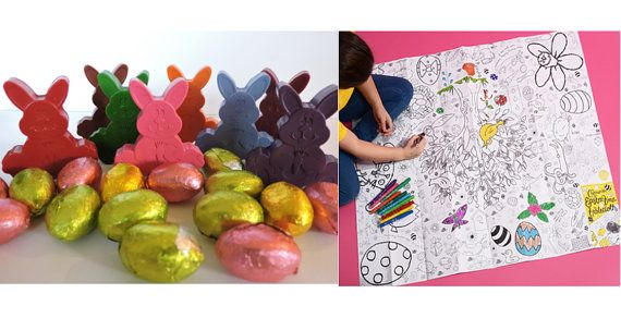 Bunny crayons and easter colour in tablecloth set of 8 gift idea bunny crayons and easter colour in tablecloth set of gift idea easter basket negle Choice Image