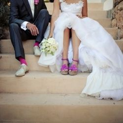 What happens when a Photographer gets married? This Helen and Dominics Pink and Yellow Ibiza wedding