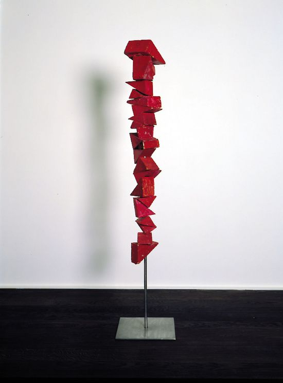 Red Fragmented Figure, 1953  Louis Bourgeois  Painted wood, wax and steel