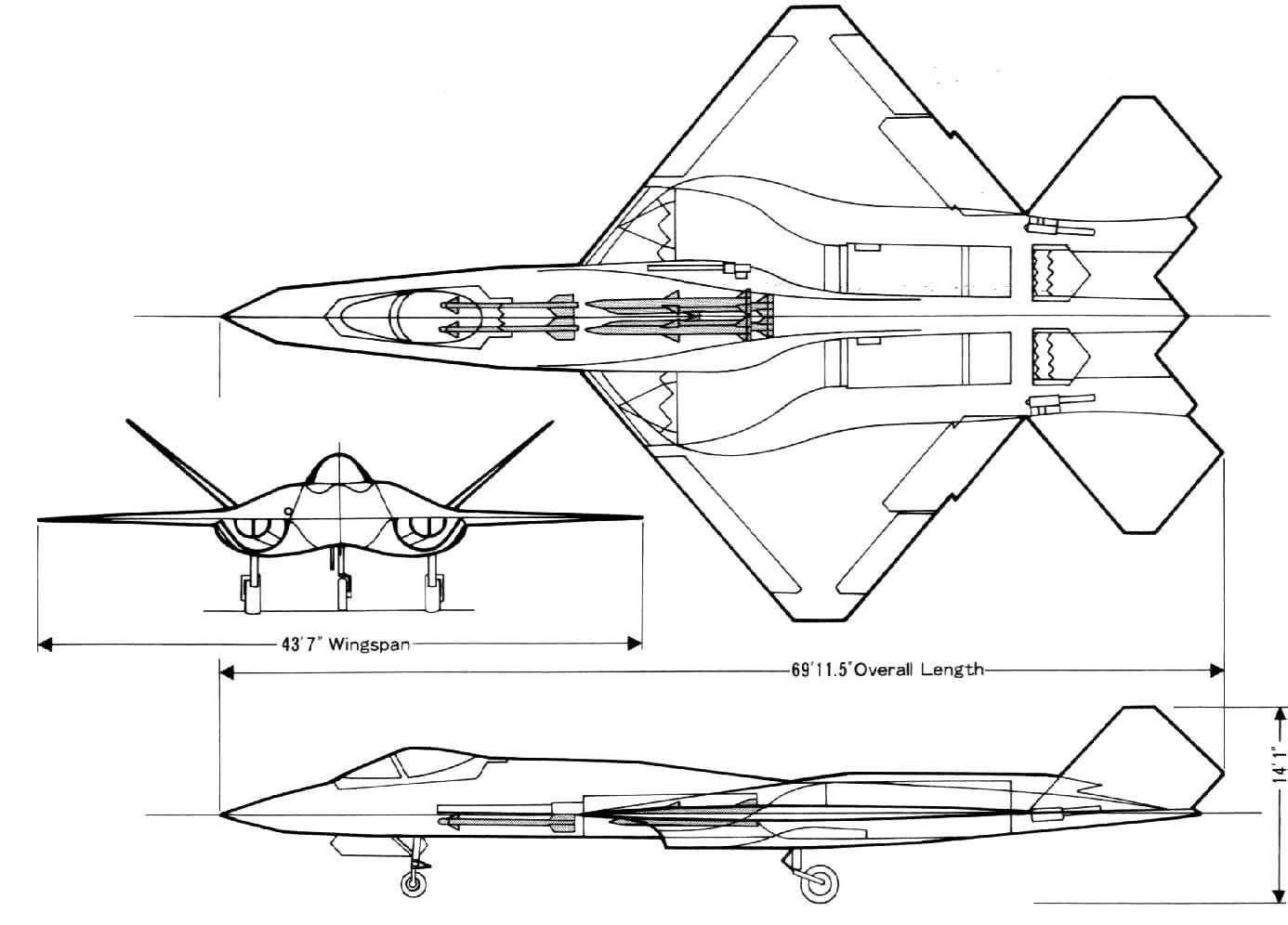 Northrop Yf 23 Black Widow Ii