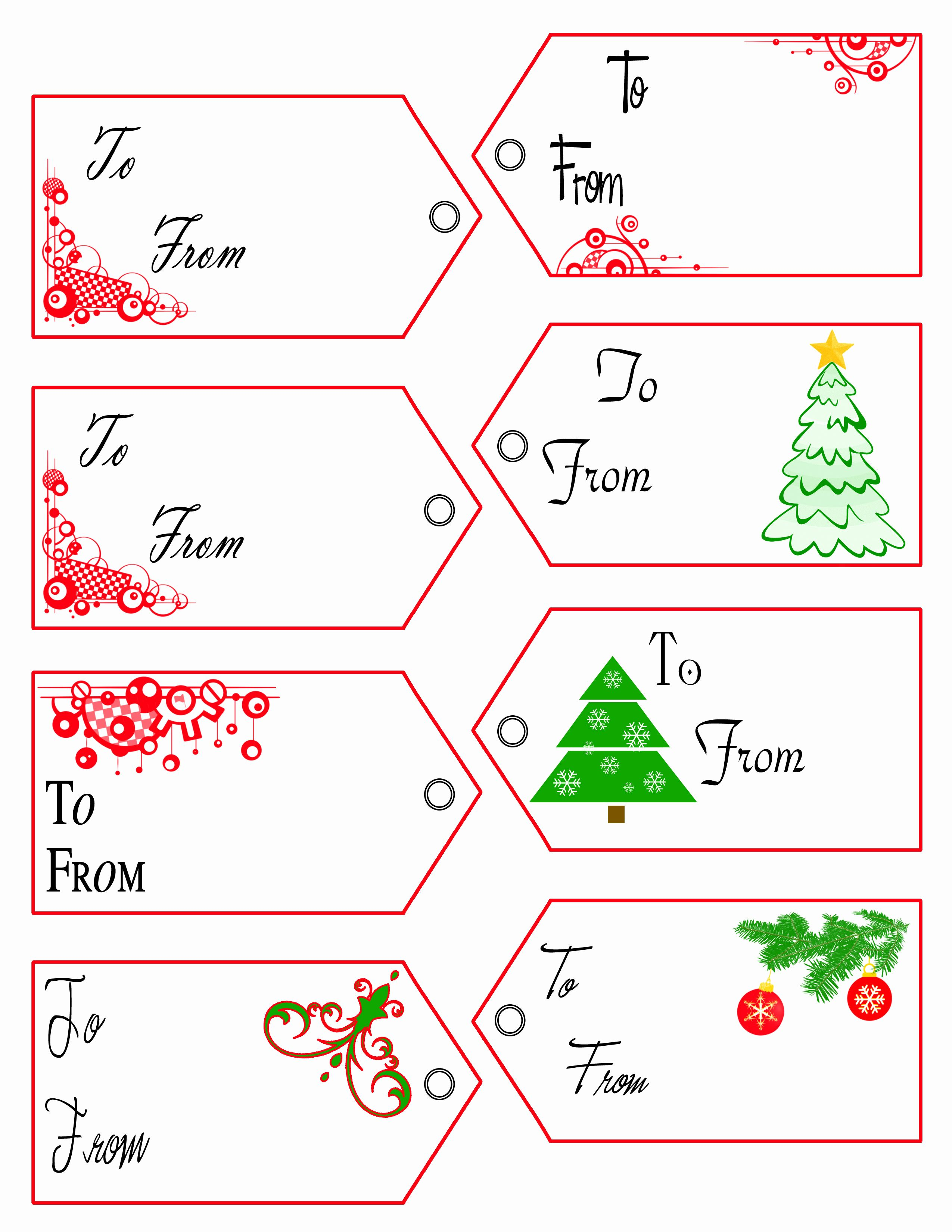 Christmas Labels Free Printable Templates
