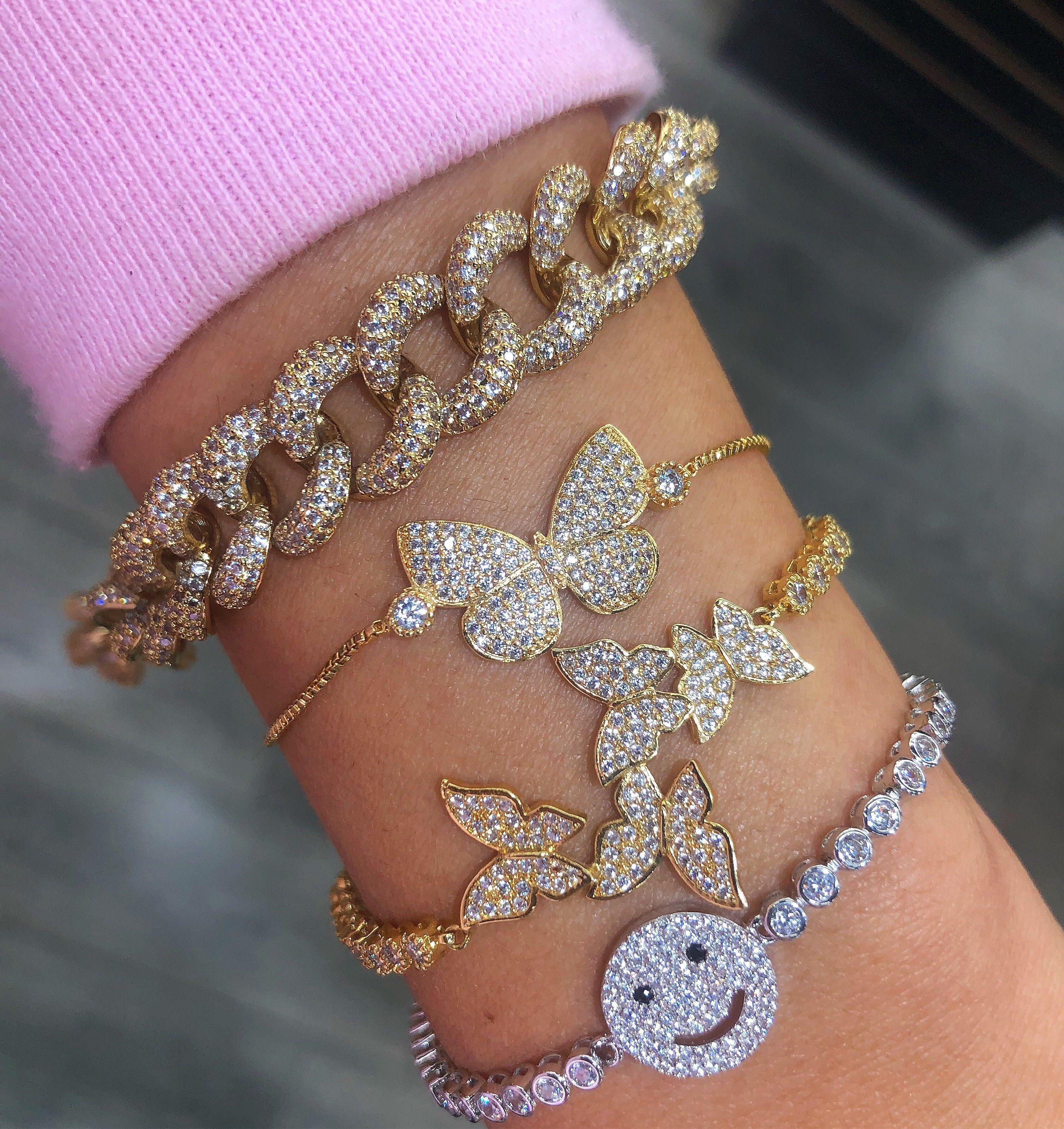 New Women Silver Metal Rhinestone Butterfly Bling Charm Fashion Headband Jewelry