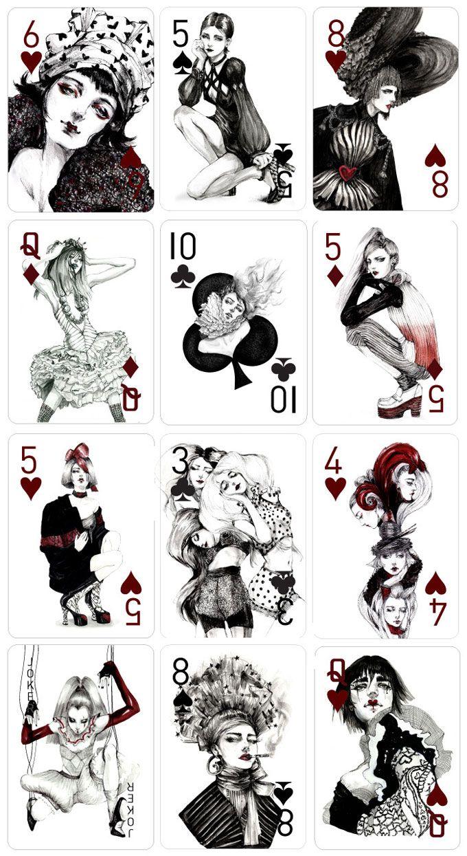 As Cartas Inspiradas Em Moda E Mulheres Por Connie Lim Playing Cards Art Card Art Hand Illustration