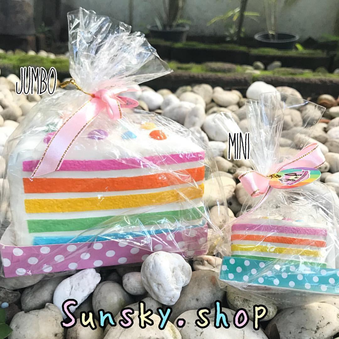 Squishy cake rainbow 🌈 🍰 Chawa น่ารักมากๆค่าหอมนุ่มสโล💓 ...