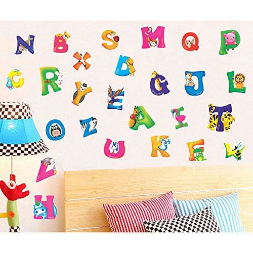 generic a z animals alphabet wall stickers nursery kids room decals generic httpwww - Diy Entfernbarer Backsplash