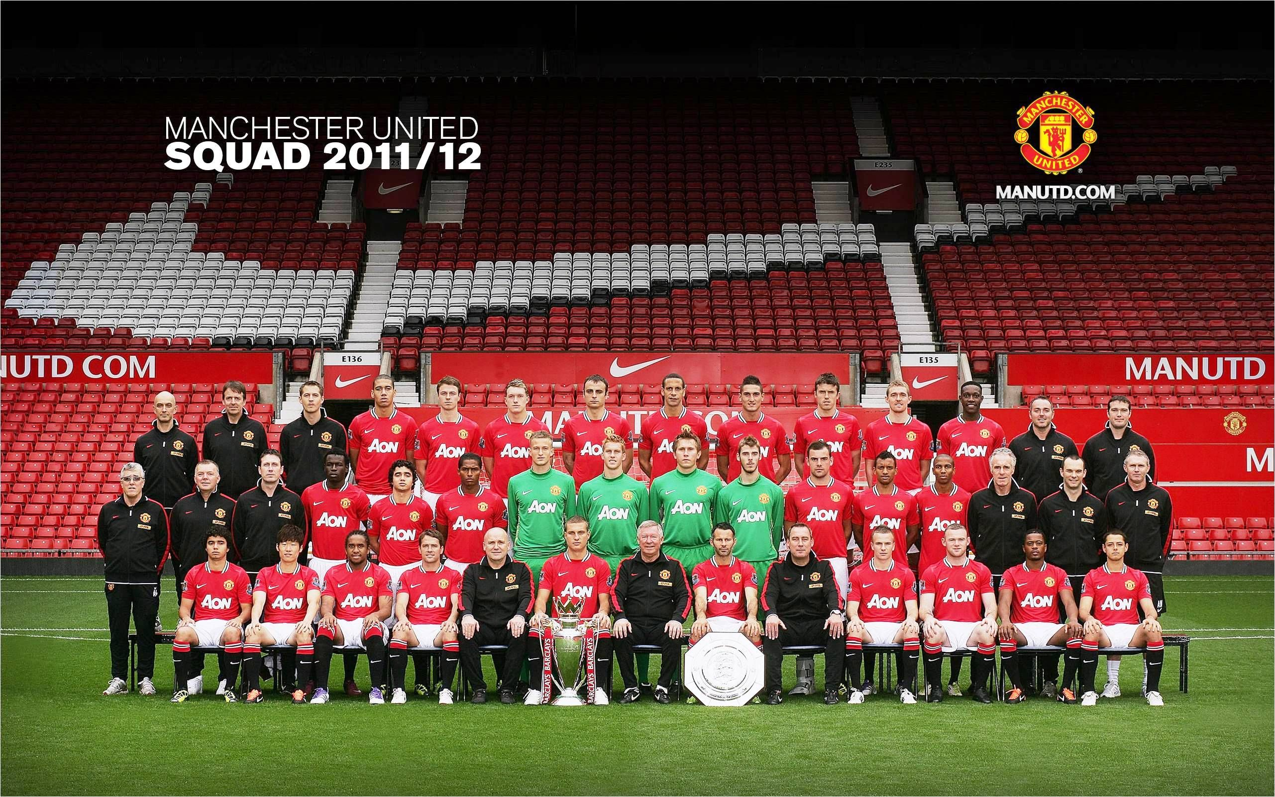 2011 12 Manchester United Squad Manchester United Wallpaper Manchester United The Unit