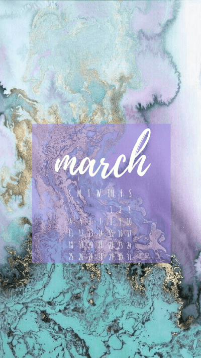 March 2018 Phone Wallpaper Calendar Screensaver
