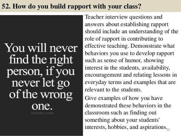 114 teacher interview questions and answers | Teacher ...