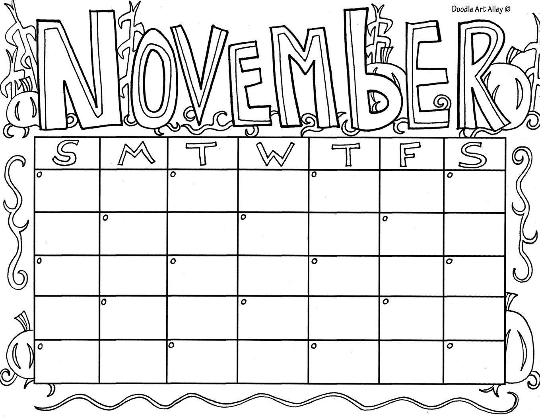 November.jpg Kids calendar, Coloring calendar, Calendar
