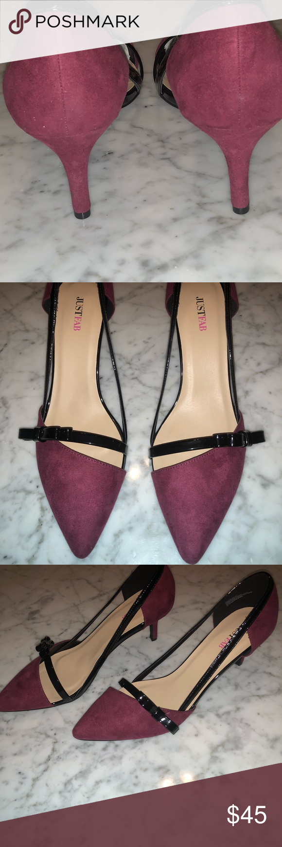 78ad26d1dc4 Women s Heels Size 11 Burgundy Pumps Burgundy Size 11 Women s Heels.  JustFab Shoes Heels